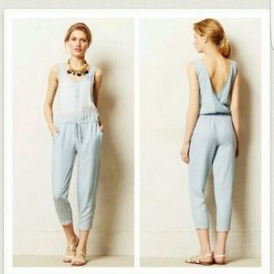 Anthropologie Cloth and Stone Chambray Jumper